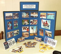 Image: A display features the Texas Lion's Camp which Lion's Club members from all over the State help make possible for children ages 7-16 living with physical disabilities, children 8-15 having type 1 diabetes and Down syndrome kids 12-16 years old. Campers generally attend year-after-year with the TLC being a special event in their lives.