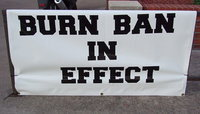 Image: The Ellis County Commissioners' Court has issued an order prohibiting outdoor burning for 90 days as of Monday, July 8, 2013, prompting the Italy Fire Department to display this BURN BAN IN EFFECT banner in front of the fire station.