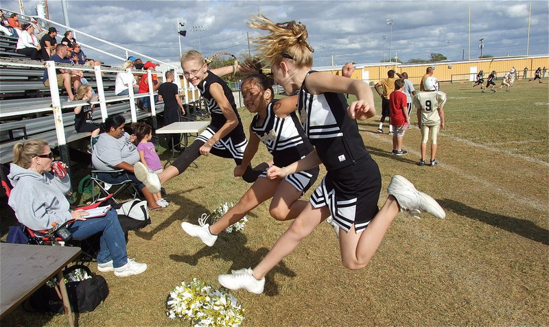 Image: The IYAA A-Team cheerleaders were the best of the rest after winning the season's cheer competition.