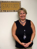 Image: Kim Varner is excited to be working at Stafford Elementary.