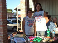 Image: Manuela Martin (court clerk) and Teri Murdock (city administrator) are having fun supporting Italy's National Night Out.