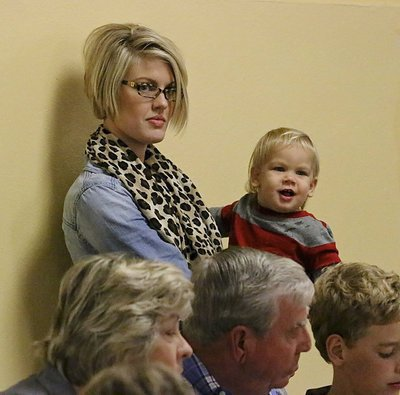 Image: Ashton Hyles Russ and son Tucker support the fundraiser with her grandparents Jimmy and Ann Hyles.