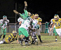 Image: Coby Bland(40), helps turn any district championship hopes of Kerens' upside down.