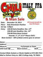 Image: Chili Cook-Off Entry Form For Optimal Printing of Form: Click image twice to get to largest size. Right click image and download to your computer. Then print image.