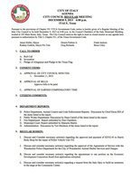 Image: December 9, 2013 City Council meeting agenda – page 1