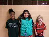 Image: Jada Williams, Evie South and Michael Travis earned 2nd place as a team in the chess puzzle event.