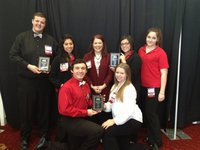 Image: Back Row: (L-R) Zac Mercer, Julissa Hernandez,  IHS FCCLA Advisor Jennifer Eaglen, Adriana Celis, Alexis Sampley Bottom Row: Chase McGinnis, Tia Russell