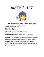 Image: The math department at Italy High School has put together a MATH BLITZ for the all the 8th graders, a a four-day tutorial session to help students prepare for their upcoming STAAR Test. Session dates are March 24th, 26th, 27th, 31st from 3:00 p.m.- 5:00 p.m.