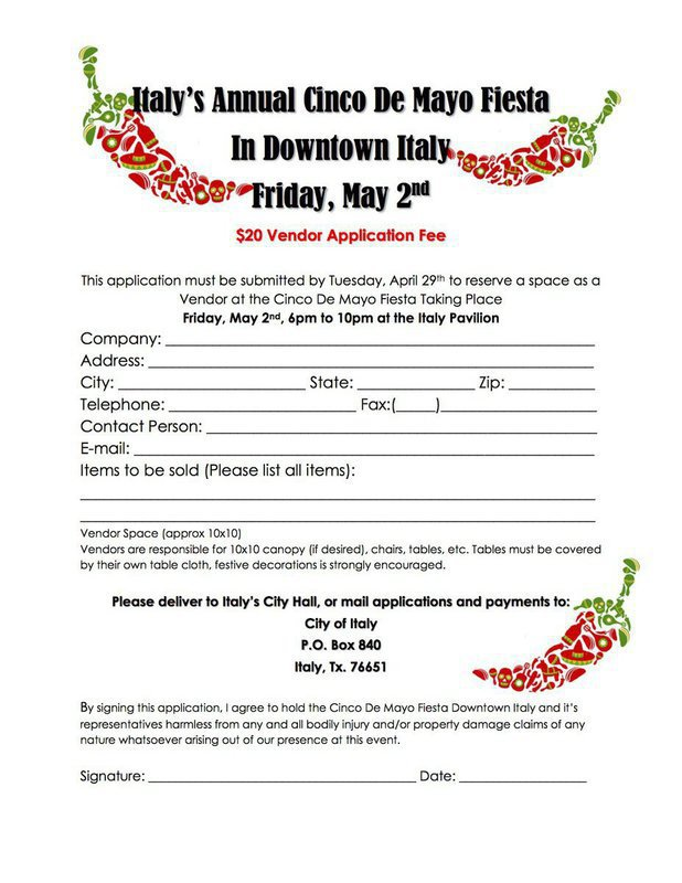 Cinco De Mayo Fiesta Vendor Applications Available  Italy Neotribune