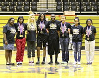 Image: Representing Italy Track and Field at the State level were manager Brenya Williams, Kortnei Johnson, Halee Turner, Janae Robertson, TaMarcus Sheppard, April Lusk, Bernice Hailey and Kendra Copeland.