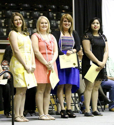 Image: The Top 10% Graduates are Taylor Turner, Jesica Wilkins, Emily Stiles and Monserrat Figueroa.