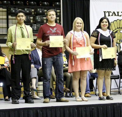 Image: Lone Star Cyclists Scholarship recipients are Joseph Sage, Bailey Walton, Jesica Wilkins and Monserrat Figueroa.