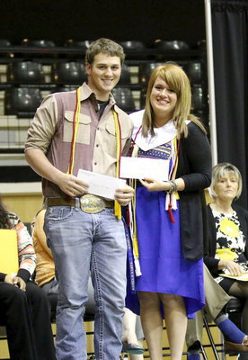 Image: Italy High School Band Booster Scholarship recipients are Joseph Pitts and Emily Stiles.