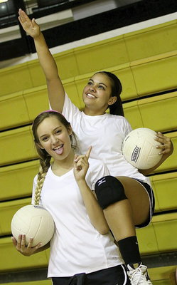 Image: Jozie Perkins and Ashlyn Jacinto are Lady Gladiators thru and thru.