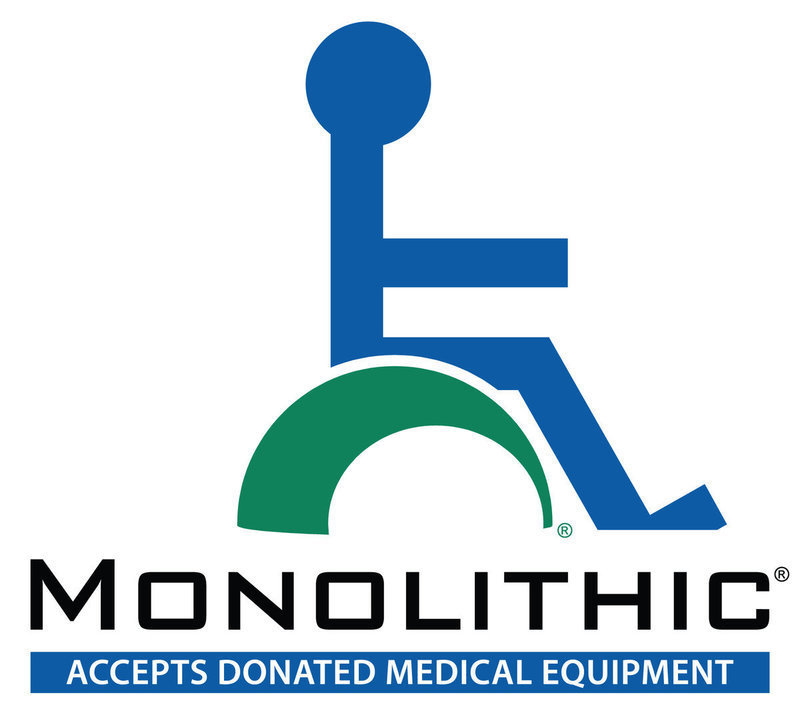 Image: Monolithic always accepts donated medical equipment. Please call 972-483-7423 if you have any new or used medical equipment you would like to give to someone in need. David South can have someone pick up the donated items or you can bring it to Monolithic at 177 Dome Park Place, Italy.
