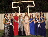 Image: Julissa Hernandez, Bailey Eubank, Madison Washington, Kelsey Nelson, Jaclynn Lewis, Reagan Cockerham, Annie Perry and Elizabeth Garcia form the 2014 Italy High School Homecoming Court with Nelson crowned being queen during halftime. Congrats, Ladies!