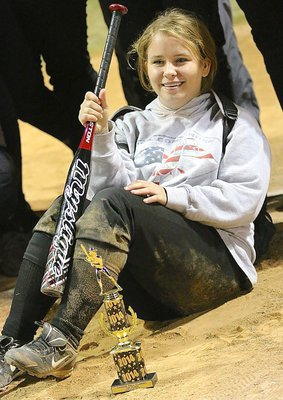 Image: Freshman Jill Varner has found her sand as a member of the Italy Softball program. Italy won the CHGSA Fall Classic 3-2 over South Grand Prairie.
