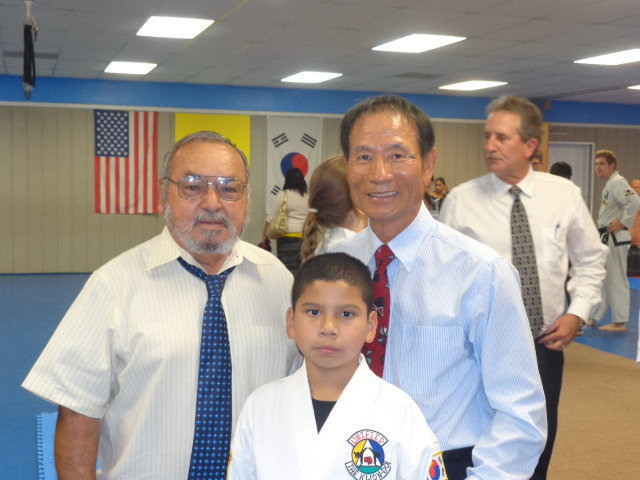 Image: Master Charles Kight-Chief Instructor of the Hillsboro TKD School, Nick and Grand Master Park-co founder of Unified from Las Vegas, Nevada.