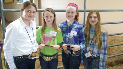 Image: Silver Spurs 4-H Club members who placed in the Top 10 of Skillathon were from left, Margaret Manning of Maypearl 5th place intermediate, Gentry Rogers of Milford 3rd place junior, Sadie Hinz of Italy 2nd place junior, and Autumn Wells of Waxahachie 8th place intermediate.