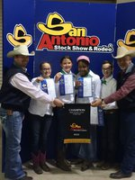 "Image: Silver Spurs 4-H ""Green Team"" comprised of Alyssa Ingram, Margaret Manning, Paige Tillis and Jacob Ingram won first place junior horse judging team at the San Antonio Stock Show."