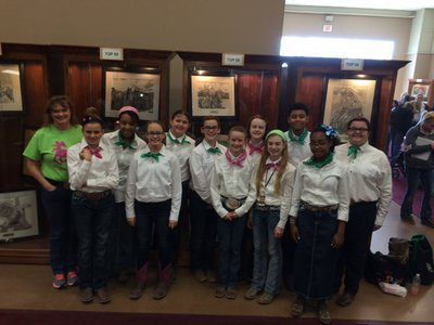 Image: Silver Spurs 4-H Club sent three teams to compete in the horse judging and Quiz Bowl divisions of the San Antonio Stock Show.