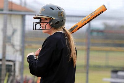 Image: Senior Lady Gladiator Kelsey Nelson had 10 RBIs and crossed home plate 9 times during the 2015 Tournament of Champions in Woodsboro.