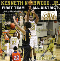 Image: Sophomore Italy Gladiator Kenneth Norwood, Jr. earned 2014-2015 1st Team All-District Honors in District 12-2A Region II with scrappy defensive play and the ability to knock down long-range shots.