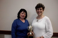 "Image: Eta Omega Sisters For Life team was presented the ""Traveling Trophy"" at the April team captain's meeting of the Relay For Life of Central Ellis County."