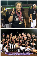Image: Congratulations to former Lady Gladiator and current Tennessee Tech Golden Eagle, Alyssa Richards, and to all her TTU teammates and coaches on becoming the 2015 Ohio Valley Conference (OVC) Softball Tournament Champions!!! TTU advances to the NCAA Tournament where they will face Auburn University in the first-round.