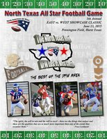 Image: Catch Italy Gladiators Coby Jeffords and John Byers competing in this summer's 5th Annual North Texas All-Star Bowl East vs. West Classic tomorrow evening on June 13, 2015, at Pennington Field in Hurst, Texas. Game starts at 7:30 p.m.