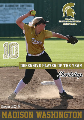 Image: Italy Lady Gladiator senior shortstop Madison Washington(10) earned the district's Defensive Player of the Year superlative and also achieved Academic All-District.