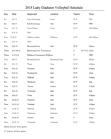 Image: 2015 Italy Volleyball Schedule – Varsity/JV