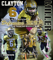 Image: Senior Gladiator Clayton Miller earned the District 10-2A's Defensive MVP Award as a sure-tackling defensive back and skilled pass defender. Miller also received Second-Team Wide-Receiver honors after making a couple of game-saving catches for Italy during their 2015 district campaign.