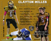 Image: Italy Gladiator senior Clayton Miller was named a 1st Team All-State Defensive Back for TheOldCoach.com 2015-2016 Class 2A Division II All-State Team.