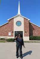 Image: Congratulations to Union Missionary Baptist Church 2016 Chili Cookoff 1st place winner Marilyn Kelley who modestly poses in front of the church. The event was hosted by the Union Women at Work (UWAW).