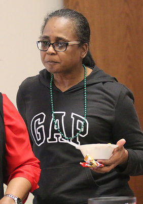Image: Sondra Drummond is about to enjoy a bowl of chili with her fellow church goers.