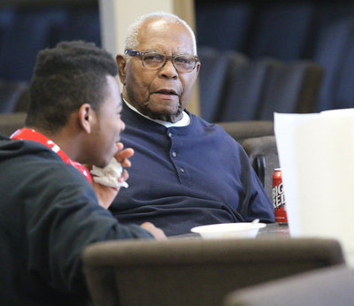Image: The event also allowed the elder members of the congregation, such as Charlie Ray Walton, Jr., pass on a bit of their wisdom to the next leaders of the community.
