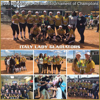 Image: Congratulations to the Italy Lady Gladiators who conquered the Woodsboro Softball Tournament of Champions by going undefeated over a two-day period. Italy won all 5 of their games to repeat as tournament champions for the second consecutive year.