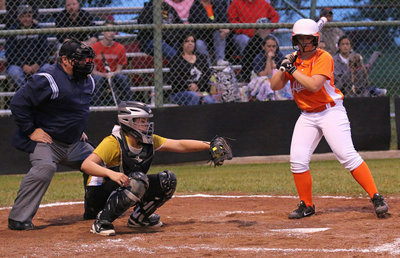 Image: Italy catcher Lillie Perry pulls in a strike from pitcher Jenna Holden.