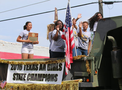 Image: And there they are! Your State Champion Lady Gladiator track team members!!