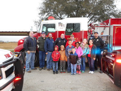 Image: The whole group poses for pictures before heading to WalMart in Waxahachie.