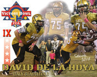Image: Italy High School senior football student-athlete David De La Hoya has recently been selected to participate in the 9th Annual 2017 Fellowship of Christian Athletes Super Centex Victory Bowl All-Star Football Game. The game will be played at Waco ISD Stadium on Saturday, June 10, with the kick-off set for 6:30 p.m.
