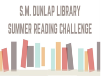 Image: Summer Reading Challenge — Reading logs may be picked up at the library starting Saturday, June 3 at 9:00am Reading logs are due on, or before, August 12 at 2:00pm