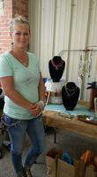 Image: Jenefer Staggs displayed her original jewelry creations at the Italy Pavillion during the City Wide sale.